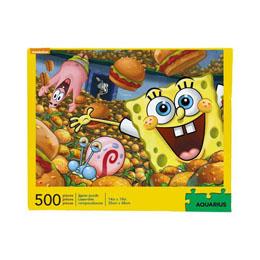 Bob l´éponge puzzle Krabby Patties (500 pièces)