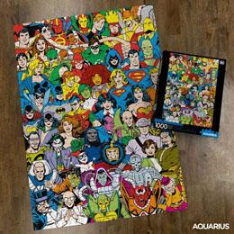DC COMICS PUZZLE RETRO CAST (1000 PIÈCES)