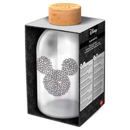 Bouteille en verre cristal Mickey Disney 620ml