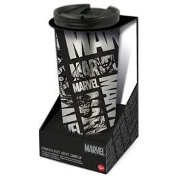 Verre thermos à café Marvel en acier inoxydable