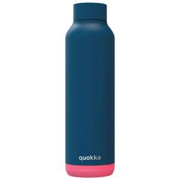 BOUTEILLE/ GOURDE SOLID BLUE NEON QUOKKA 630ML
