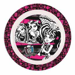 Photo du produit Assiette en mélamine Monster HIGH