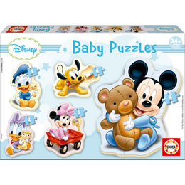 PUZZLE 3 A 5 PIECES PROGRESSIF BABY PUZZLE - 5 PUZZLES EDUCA - DISNEY : MICKEY