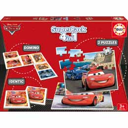 Superpack 4 jeux Disney Cars