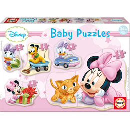 PUZZLE 3 A 5 PIECES PROGRESSIF BABY PUZZLE - 5 PUZZLES EDUCA - DISNEY : MINNIE