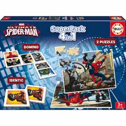 Superpack 4 jeux Marvel Spiderman