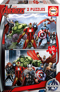 Puzzle Marvel 2 x100 pièces