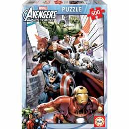 Photo du produit Puzzle super héros Marvel 500 pièces