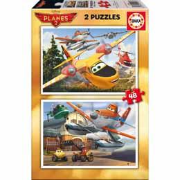 Puzzle Disney Planes 2 x 48 pièces en bois