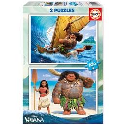 PUZZLE DISNEY VAIANA / MOANA - 2 x 100 PIECES - EDUCA