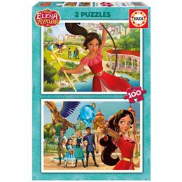 PUZZLE DISNEY ELENA D'AVALOR 2 X 100 PIECES