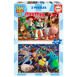 PUZZLE TOY STORY 4 2X100 PIECES