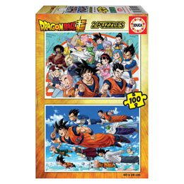 PUZZLE DRAGON BALL 2 X 100 PIECES