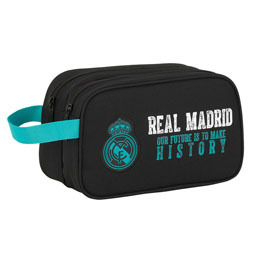 TROUSSE DE TOILETTE REAL MADRID BLACK DOUBLE