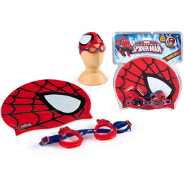 ENSEMBLE LUNETTES DE PISCINE ET BONNET DE BAIN SPIDERMAN MARVEL ULTIMATE