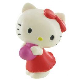 BULLYLAND FIGURINE HELLO KITTY COEUR