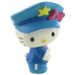 BULLYLAND FIGURINE HELLO KITTY POLICIERE