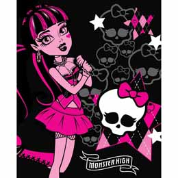 Couverture polaire Monster High Draculaura