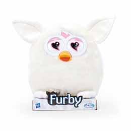 Peluche Furby soft blanc 20cm