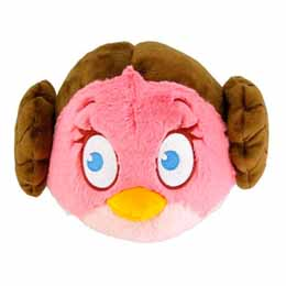 Peluche Angry Birds Star Wars Leia 13cm