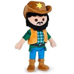PELUCHE PLAYMOBIL COWBOY SHERIF 31 cm