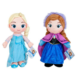 ENSEMBLE 2 PELUCHES DISNEY LA REINE DES NEIGES ELSA & ANNA