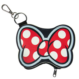 Photo du produit PORTE MONNAIE PORTE CLÉ DISNEY MINNIE NOEUD Photo 1