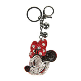 DISNEY PORTE-CLÉS ACRYLIQUE 3D MINNIE MOUSE FACE