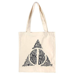SAC SHOPPING EN TISSU DEATHLY HALLOWS HARRY POTTER