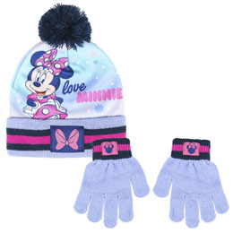 ENSEMBLE BONNET ET GANTS MINNIE