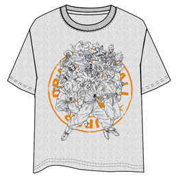 T-SHIRT DRAGON BALL ADULTE GRIS