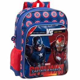 SAC A DOS CAPITAN AMERICA CIVIL WAR MARVEL VERSUS ADAPTABLE 40CM