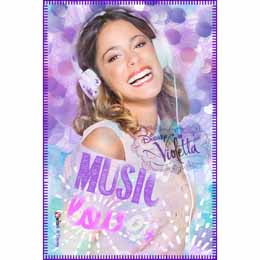 Couverture polaire Violetta Disney Music Love