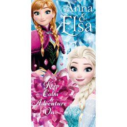 Photo du produit DISNEY SERVIETTE DE BAIN FROZEN DISNEY ANNA ELSA