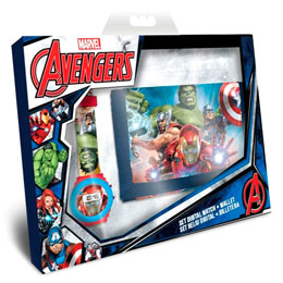 COFFRET MARVEL THE AVENGERS MONTRE DIGITALE ET PORTEFEUILLE