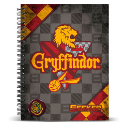 CARNET A5 HARRY POTTER QUIDDITCH GRYFFINDOR