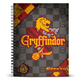CARNET A4 HARRY POTTER QUIDDITCH GRYFFINDOR