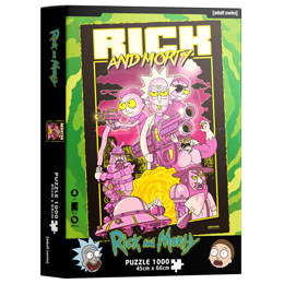 Puzzle Retro Poster Rick and Morty 1000 pièces