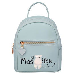 SAC A DOS MISS YOU GREY 22CM