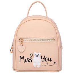 SAC A DOS MISS YOU PEACH 22CM