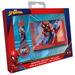 COFFRET MARVEL SPIDERMAN MONTRE DIGITALE ET PORTEFEUILLE