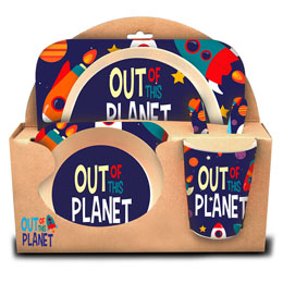 COFFRET DÉJEUNER OUT OF THIS PLANET EN BAMBOU