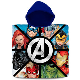 PONCHO SERVIETTE MARVEL THE AVENGERS EN COTON