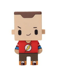 FIGURINE BIG BANG THEORY PIXEL SHELDON FLASH TEES 7CM