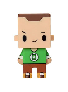 FIGURINE BIG BANG THEORY PIXEL SHELDON GREEN LANTERN TEES 7CM