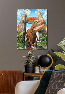 Photo du produit JURASSIC PARK TABLEAU EN BOIS WOODARTS 3D REX ATTACK 30 X 40 CM Photo 3