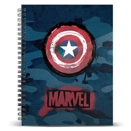 CARNET MARVEL CAPTAIN AMERICA A5