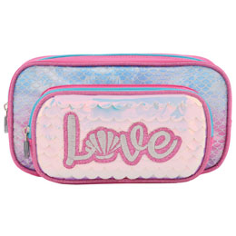 TROUSSE DOUBLE LED ET PAILLETTES LOVE ROSE