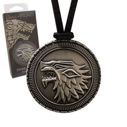 GAME OF THRONES PENDENTIF AVEC LANIERE STARK SHIELD