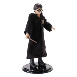 THE NOBLE COLLECTION HARRY POTTER FIGURINE FLEXIBLE BENDYFIGS HARRY POTTER 19 CM